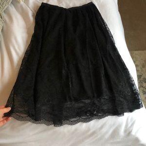 ZARA lace fit & flare midi skirt